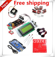 JR-reprap reprap kit reprap kit Free shipping!! Mega 2560 R3 + MK2B+1pcs RAMPS 1.4 Controller +1LCD 2004+5pcs A4988 ect.. for 3D Printer kit Reprap Mendel Prusa