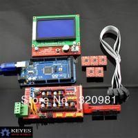 Cheap 1pcs Mega 2560 R3 + 1pcs RAMPS 1.4 Controller + 5pcs A4988 Stepper Driver Module +1pcs 12864 controller for 3D Printer kit