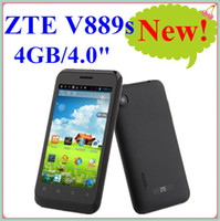 4.0 Android 512M Original ZTE V889s 4.0 inch capacitive screen Android 4.1 smart phone 800x480 MTK6577 Dual Core 1.0Ghz GPS 3G WCDMA Bluetooth