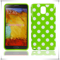 For Samsung TPU Wholesale TPU Case Cover For Samsung Galaxy Note 3 N9000 Polka Dots Soft Gel Cover