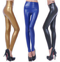 Pants Women Skinny,Slim Free Shipping Spring Autumn Fashion Women PU Leather Pants High Waist Pants Tights Leggings Slim Skinny Pants Trousers Lower Garment Bottom