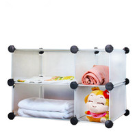 Wholesale Diy bathroom wardrobe storage rack drawer plastic folding shelf finishing partition