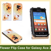 ace buy - New Arrive Flower Print Flip Cover Case for Samsung Galaxy Ace PU Leather Case for Samsung Galaxy Ace i8160