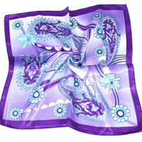 Spot Purple Silk Simulation slightest towel wholesale Yiwu small square large square , really Sisang Bo satin scarf F34