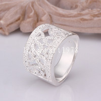 Wholesale Hot sale fashion Beautiful retro square ring silver trend Jewellery Swarovski Elements Crystal ring jewelry Christmas Gorgeous gift R309