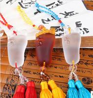 Wholesale Automobile Pendant padfoot happy new glass car pendants decoration