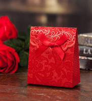 Cheap Favor Boxes wedding candy box Best Red Paper gift box