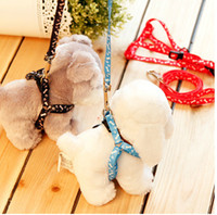 Wholesale dog lead Pet harness leash pet collar many colors send mixed randomly for small dogs