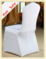 Cheap Wedding Chair Christmas chair cover Best Spandex / Polyester Plain banquet chair cover
