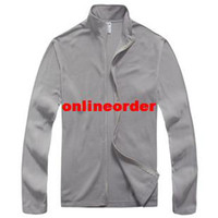 Wholesale Winter Thermal Fleece Men Long Sleeve Zip Cardigan Coat Winter New Outdoor Warm Jacket Long Sleeve Jersey Grey