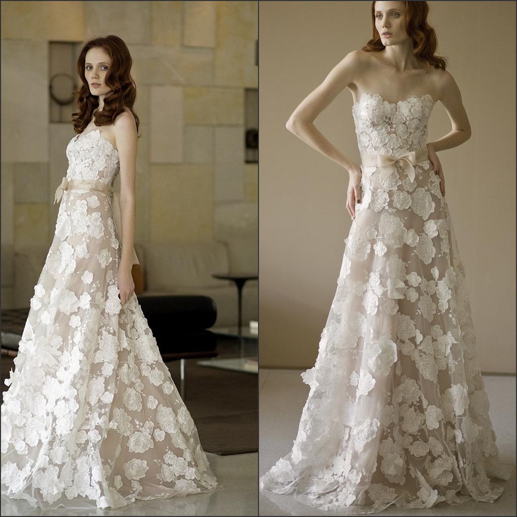 Discount 2014 Elegant Designer Bridal Gown Sweetheart A