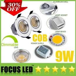 Amazing Crazy Discount 30% OFF Dimmable Non Ultra Bright 9W 1*9 Watt COB LED  Downlights 3.5 Inch Fixture Recessed Lamps Cabinet Ceiling Down Lights