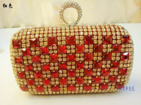 Wholesale 2014 New Arrival Hand Bag Clutch Bag Hard Shell Bag Diamond Evening Bag Fashion