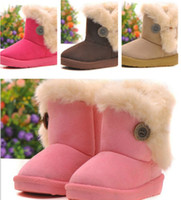 Wholesale Retail Children Snow Boots Winter Boys And Girls Warm Shoes Baby Soft bottom Buckle Thick Plush Kids Boots