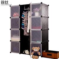 Wholesale Wire composite door portable simple wardrobe folding child wardrobe