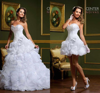 Wholesale y Elegant Two Pieces Beautiful Sweetheart Flower A line Wedding Dress Gowns