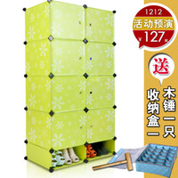 Wholesale Diy magic film single plastic simple wardrobe Small clothes storage cabinet folding combination wardrobe