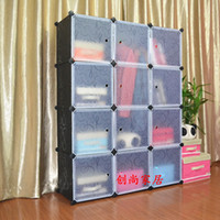 other assembled wardrobes - Diy combination simple wardrobe clothes storage cabinet folding assembled double wardrobe steelframe Large