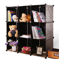 Wholesale Toy storage cabinet box invisible bookshelf storage cabinet drawer plastic simple bookshelf disassembly