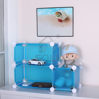 Wholesale Diy plastic storage cabinet storage rack desktop sundries storage desktop storage series
