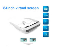 Wholesale New Cool anti vertigo FLCOS Micron inch Wide Screen Virtual Display Eyewear Stereo Video Glasses