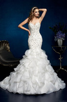 Wholesale 2014 wedding dress sexy Mermaid Sweetheart Floor length Sweep Beaded Fold Satin Standard code Wedding gowns A95