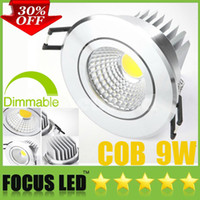 9W best downlights - Best Price OFF Inch W Watt LM COB LED Downlights Dimmable Non Fixture Recessed Lamps Power Driver Ceiling Down Lights CE CSA