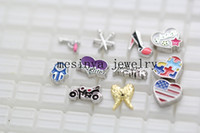 Wholesale 110 new assorted floating charm for glass memory living locket promotion gift Xmas keepsake locket not included