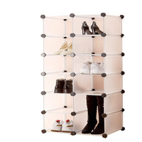 Wholesale Shoe hanger disassembled wardrobe cosmetic box multi layer Large dual order box drawer shoe cabinet multi layer s the