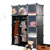 Wholesale Diy storage cabinet finishing wardrobe plastic cabinet storage cabinet storage rack