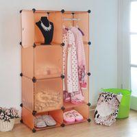 Wholesale Simple wardrobe door clothes rail storage rack clothes storage box area
