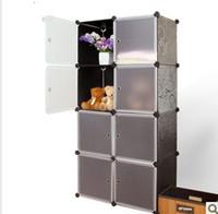 Wholesale Green pp magicaf cabinet diy storage cabinet simple wardrobe child wardrobe