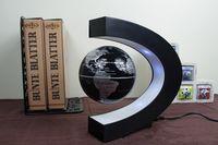 Wholesale New arriving C shape Decoration Magnetic Levitation Floating Globe World Map LED Light mixed color