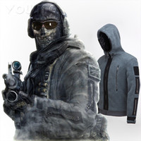 Wholesale Great quality New COD Call of Duty Task Force Ghost Costume Jacket Hoodie Mens Ladies Zip Up XS XXXL at stock