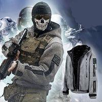 Wholesale Great quality New COD Call of Duty Task Force Ghost Costume Sweatshirts Hoodies Mens Ladies Zip Up XS XXXL