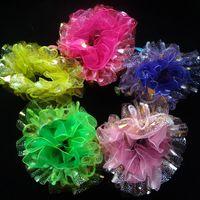 Wholesale 20pcs Fashion Children Girls Hair Accessory Hair Scrunchies Elastic Ponytail Hair Tie Bands Hair Holder