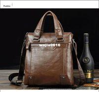 Wholesale Hot sale fashion genuine soft leather briefcase for men laptop bags men s computer shoulder bags business briefcase leather