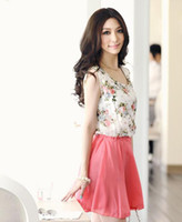 Casual Dresses western dresses - Summer Women s clothing Fashion kingfisher s feather flower Chiffon beam waist Sleeveless Western style clothes Dress