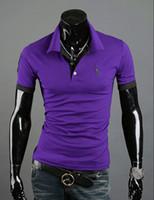 Wholesale 2014 fashion new men t shirts Korean casual slim fit tshirt deer embroidery Tennis shirts POLO shirt men s clothing for summer