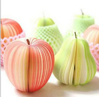 Wholesale Paper Scratch Pad Onion Cabbage Pumpkin Kiwi Apple Shaped Note Memo Scratch Pad