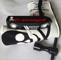 Wholesale New golf clubs fashion skull golf putter with headcover high quality clubs putters