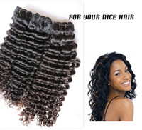 Malaysian Hair Deep Wave  Queen Hair Products 4Pcs 5a Malaysian Virgin Kinky Deep Curly Hair Weaves , 100% 5a Unprocessed Malaysian Human Hair #1b Free Shipping