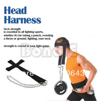 TK0864# Nylon Black New Nylon Head Harness Neck Strength Head Strap Weight Lifting Exercise Fitness Belt TK0864