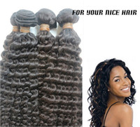 Deep Wave Peruvian Hair  Queen hair products Free Shipping Unprocessed malaysian curly virgin hair weave 5A Afro Kinky curly hair 5pc lot 8-26inch 55g pc