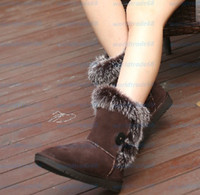 ankle boots canada - Brand New WGG Winter boots black tall shoes cow leather boots Canada Sweden genuine cow leather boots Snow boots fur boots