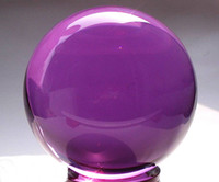 Wholesale Jade carving Asian Rare Natural Quartz purple Magic Crystal Healing Ball Sphere mm Stand