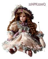 Unisex Birth-12 months Vinyl 20 inch 50cm silicone vinyl dolls European style Germany girls doll vintage fashion baby toys Victorian style Doll