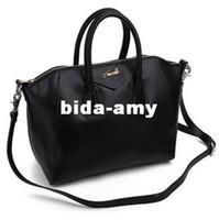 Wholesale Real Cow Genuine Leather Fashion Women Hot Sales Vintage Shopper Shoulder Tote Bag Red Black Beige