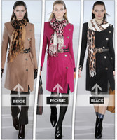 Wholesale new designer Junoesque women wool cost elegant slim coat with belt scarf