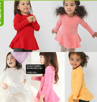 Factory Outlets 2014 Spring Autumn Girls Dress Long sleeve F...